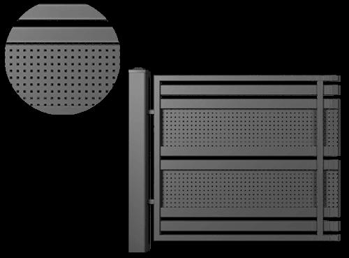 Moderner Zaun
